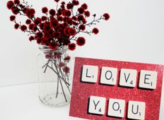 Scrabble love cards by allanamphotography on Etsy, £2.10