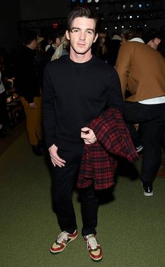 Drake Bell from See Every Celebrity at Fashion Week: Fall 2019 Drake Bell, Actors Then And Now, Josh Peck, Bell Pictures, Rene Russo, The Todd, Drake And Josh, Danielle Panabaker, Miranda Cosgrove