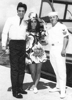 May 27, 1968 Elvis & Priscilla USS Arizona War Memorial Pearl Harbor, Hawaii