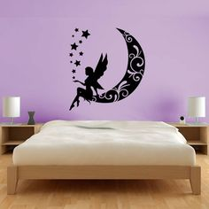 Shelves, Bed, Room, Furniture, Design, Angels, Home Decor, Painted Walls, House Decorations
