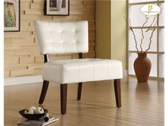 Shop For Homelegance Accent Chair, White Bi Cast Vinyl, 489WT, And Other