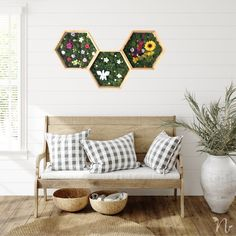 These wooden frames are decorated with preserved moss and flowers to create a stunning indoor garden that stays fresh and vibrant for years with no maintenance needed. Suits modern, boho, rustic and natural interior design styles Moss Art, Natural Interior, Flower Letters, Interior Decorating, Interior Design, Unique Wall Art, How To Preserve Flowers, Design Styles, Modern Boho