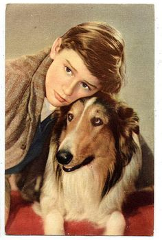 """Roddy McDowell and Pal (his real name) in 1943 movie """"Lassie Come Home"""""""