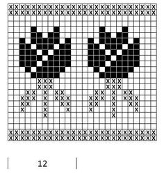 Mustrilaegas: A Kudumine / Knitting Fair Isle Knitting Patterns, Fair Isle Pattern, Knitting Charts, Loom Patterns, Loom Knitting, Knitting Stitches, Knitting Socks, Cross Stitch Borders, Cross Stitch Flowers