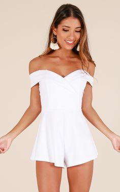 Showpo In The Spotlight playsuit in white - 20 (XXXXL) Rompers & White Playsuit, White Dress, Playsuit Romper, White Lace, Long Mermaid Dress, Summer Outfits, Cute Outfits, Clubbing Outfits, Party Outfits