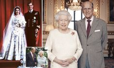 Queen and Prince Philip pose for 70th wedding anniversary