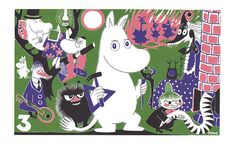 Moomin Poster Moomintroll 3 Tove Jansson 24 x 30 cm