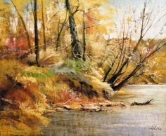 Autumn Textures by Tom Christopher Pastel ~ 30 x 35
