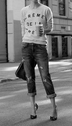 still love this look. sweater by ZOE KARSSEN