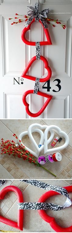 Easy Valentine Day Home Décor by craft-mart.com #valentinesday