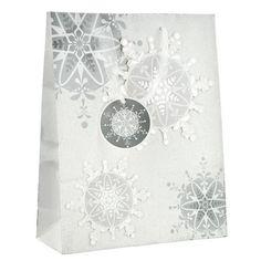 Large Handcrafted Snowflake Gift Bag | Poundland