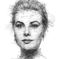 Kickstarter Project Tiga is a collaborative effort between me (Vince Low), Kerby Rosanes (Manila) and Peisy Ting (Kuala Lumpur) Pencil Portrait, Portrait Art, Scribble Art, Photoshop, Sketch Inspiration, Portraits, Pen Art, Grace Kelly, Face Art