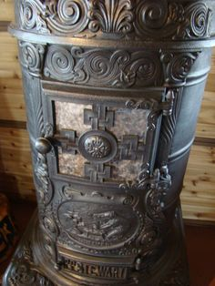 Rusty Iron Ranch Antique Stoves: P.P. Stewart Stove - Mica door