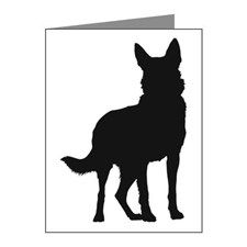 German Shepherd Silhouette Note Cards (Pk of 20) for