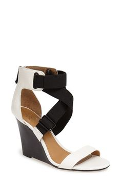 Mix it up this season in the black-and-white high contrast trend, like these fab wedges!