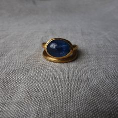 Gold ring with kyanite. Maura, Gold Rings, Gemstone Rings, Fine Jewelry, Gemstones, Gems, Jewels, Minerals, Jewelry