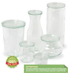 Weck Jars are so appealing.