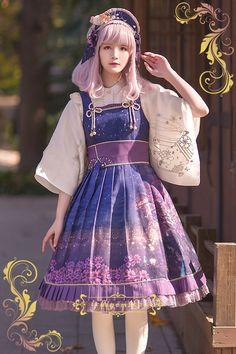 IchigoMiko -Fantastic Night By The River of Sakura- Wa Lolita Jacquard Corset