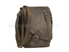 Greenburry VINTAGE Revival - Leder Umhängetasche Herrentasche CrossOver-Bag S - charcoal