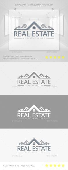Real Estate Logo Template #design #logotype Download: http://graphicriver.net/item/real-estate-logo/11434026?ref=ksioks