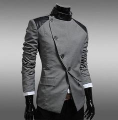 2015 Futuristic Side Button Blazer | Deal Man