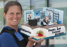 One of @GMPBlackley's 3000-plus followers on Twitter has enjoyed the tweets from the local officers – who cover Higher Blackley and Charleston – so much that she had a cake especially made to celebrate the second anniversary of the team's very first tweet. The cake is to be sliced up and sold around the team's base on the Force's North Manchester Division, with all proceeds going to charity. www.gmp.police.uk