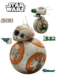 Star Wars:The Rise of Skywalker 'Official' Character Cut Outs by Fathead Star Wars Bb8, Star Wars Droids, Star Wars Fan Art, Star Wars Characters, Star Wars Episodes, Star Wars Jewelry, Star Wars Sequel Trilogy, Knights Of Ren, Star Wars Merchandise