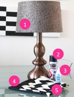 Beautiful DIY Lampshade Ideas / DIY How To Cover A Lampshade