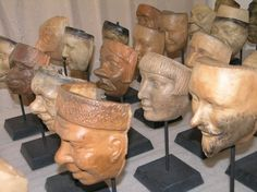 Anonymous Works: A Group of 40 Antique Production Molds for 19th Century Carnival Masks