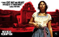 Wallpaper with #ConceptArt of Luisa from #RedDeadRedemption