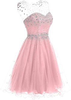 Clearbridal Women's Short Prom Dress A-line Formal Evening Party Cocktail Wedding Dresses Ball Gowns 2020 Short Red Prom Dresses, Dama Dresses, Pretty Prom Dresses, Hoco Dresses, Pageant Dresses, Cute Dresses, Beautiful Dresses, Pretty Outfits, Formal Dresses