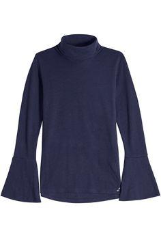 Seafarer Wool Turtleneck Pullover In Blue Seafarer, Longsleeve, A Line Skirts, Turtleneck, Casual, Pullover, Style Inspiration, Wool, Denim