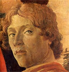 Sandro Botticelli, self -portrait, 1475. Adoration of the Magi (detail).