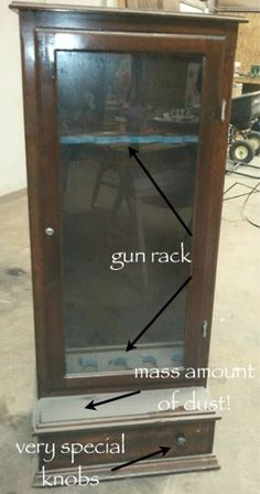 Gun Cabinet turned Craft Cabinet