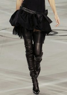 The thigh high CHANEL boots featured in The Devil Wears Prada.