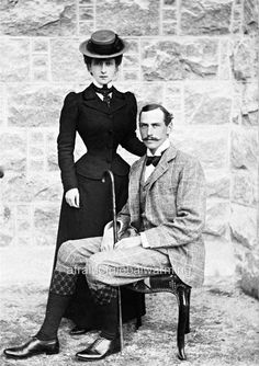Old Photo. Queen Maud (1869-1938) and King Haakon VII (1872-1957)