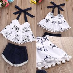 Newborn Toddler Baby Girl Summer Clothes Tank TopsShorts Pants Outfits Set - Baby Girl Dress - Ideas of Baby Girl Dress - Toddler Baby Girl Summer Clothes Tank TopsShorts Pants Outfits Set Baby Girl Fashion, Toddler Fashion, Fashion Kids, Fashion Clothes, Fashion Games, Fashion Wear, Fashion Dolls, Spring Fashion, Baby Outfits Newborn