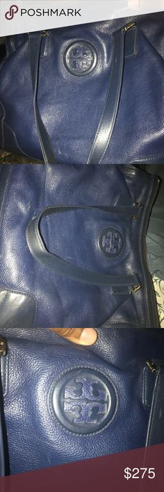 Medium sized leather hobo bag Authentic used bag with a lot of life still life left in it...very fashionable for any occasion..originally purchased from Nordstrom Tory Burch Bags Hobos