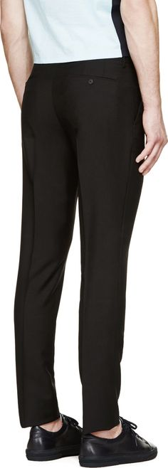 Burberry London Black Wool Sterling Trousers
