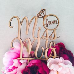 From Miss To Mrs Cake Topper Bridal Shower Cake Kitchen Tea Cake Cake Topper Cake Decoration Cake Decorating Hens Night Topper