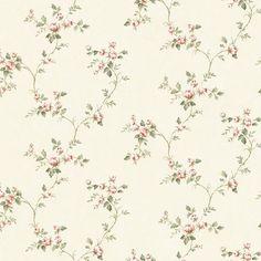 "33' x 20.5"" Country Rose Vine Wallpaper"