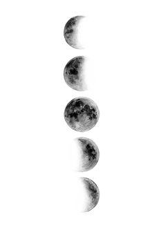 Moons Print by Elle Wills