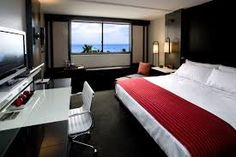 Hotel Renew in Honolulu, Hawaii. Dream big in our exquisite ocean view hotel room. You'll love the platform king sized bed, where you can gaze across the expansive Pacific Ocean. Condo Interior Design, Condo Design, Interior Exterior, House Design, Apartment Design, Best Boutique Hotels, A Boutique, Beach Boutique, Student Home