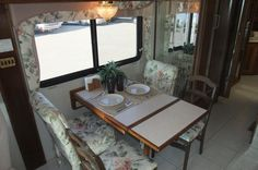 Motorhome - Kitchen table ... before