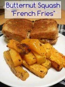 """Roasted Butternut Squash """"French Fries"""""""