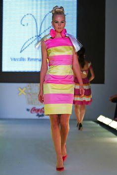 Vassilis Zoulias SS15 Yakinthi Coca Cola Light, Ss 15, Supermodels, Catwalk, Peplum Dress, Fashion Show, Athens, Collection, Designers