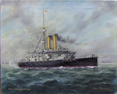 Laid down: 12 July Launched… Ship Art, Historical Pictures, Royal Navy, Military Art, Water Crafts, Battleship, Dieselpunk, Artist At Work, Plymouth