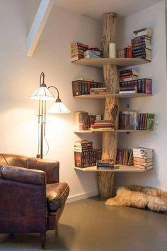 Création d'une bibliothèque avec de la récupération #DIY #houses #déco…