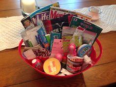 Labor and Delivery Hospital Survival Kit Baby Shower Gift Labor kit Snack basket