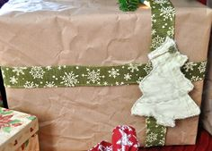 Use upcycled / recycled packing paper for a new twist on eco-friendly gift wrap